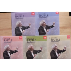 Beethoven: Symfoni nr. 1-9. Simon Rattle, WPO. 5 CD. EMI