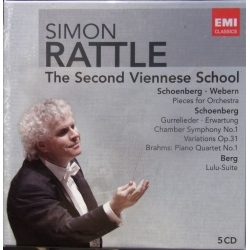 The Second Viennese School. Schoenberg, Webern. Simon Rattle. 5 CD. EMI