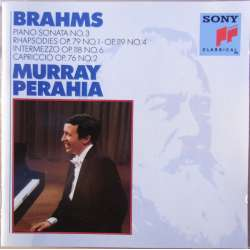 Brahms: Klaversonate nr. 3. + Rhapsodie opus 79 & 119. Murray Perahia. 1 CD. Sony