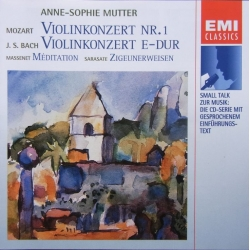 Bach: Violin Concerto. & Mozart: Violin Concerto. Anne Sophie Mutter, Marriner. 1 CD. EMI
