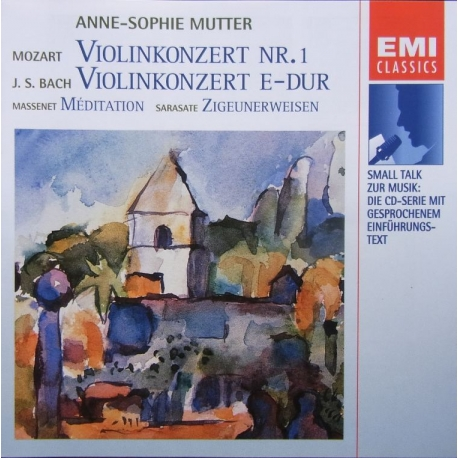 Bach: Violin Concerto & Mozart: Violin concerto no. 1. Meditation & Ziegunerweisen. Anne Sophie Mutter, Neville Marriner. 1 CD.