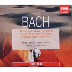 Bach: Christmas oratorio & Mass in B-Minor & L'Assention + St. Matthew - St. John Passion. 10 CD. EMI