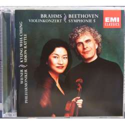 Brahms: Violin Concerto. & Beethoven: Symphony no. 5. Kyung-Wha Chung, WPO. Simon Rattle. 1 CD. EMI