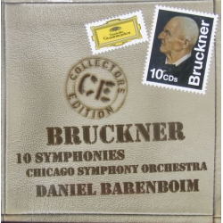 Bruckner: Symfoni nr. 0-9. Daniel Barenboim. Chicago SO. 10 CD. DG
