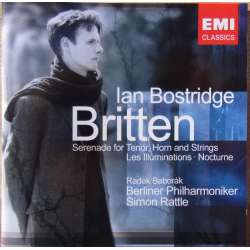 Britten: Serenade for tenor, horn & strygere. Ian Bostridge, BPO. Simon Rattle. 1 CD. EMI