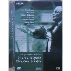 Pierre Boulez Conducts Modern Classics - Berg, Debussy, Stravinsky. 1 DVD. TDK