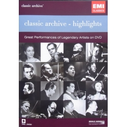 EMI Classic Archive - Highlights. 1 DVD EMI.