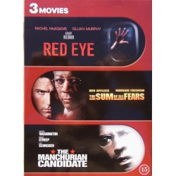 Red Eye & The Sum of all Fears. & The Manchurian Canditate. 3 DVD. Action
