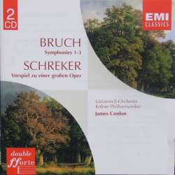 Bruch: Symfoni nr. 1-3. Køln PO. James Colon. 2 CD. EMI Forte