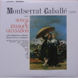 Montserrat Caballé: Songs of Enrique Granados. 1 CD. RCA