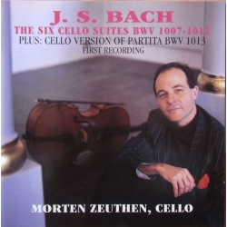 Bach: 6 suiter for solo cello. Morten Zeuthen. 2 CD. Classico