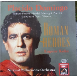 Placido Domingo: Roman Heroes. Eugene Kohn. 1 LP. EMI. New Copy