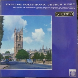 English Polyphonic Church music. Bernard Rose. 1 LP. Saga