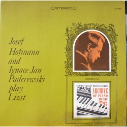 Josef Hofmann and Jan Paderewski plays Liszt. 1 LP Everest