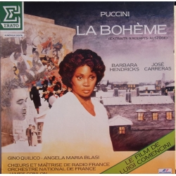 Puccini: La Boheme in highlights. Barbara Hendricks, Jose Carreras, James Conlon. 1 LP. Erato