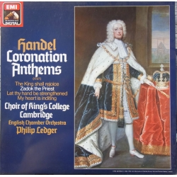 Handel: Coronation Anthems. King's College Choir, Philip Ledger. 1 LP EMI. ASD 1434451 Nyt eksemplar.