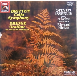 Britten: Cello Symphony & Bridge: Oration. Isserlis, Hickox. 1 LP. EMI