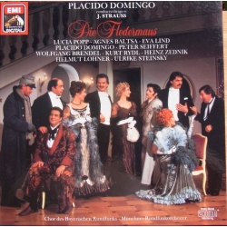 J. Strauss: Flagermusen. Popp, Baltsa. Domingo. 2 LP. EMI