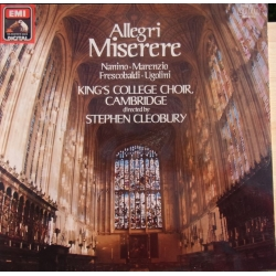 Allegri: Miserere. King's College Choir, Stephen Cleobury. 1 LP. EMI. Nyt eksemplar