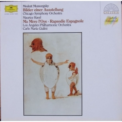 Mussorgsky: Pictures at an Exhibition & Ravel: Ma Mere L'Oye. Carlo Maria Giulini, Chicago Symphony Orchestra. 1 LP. DG