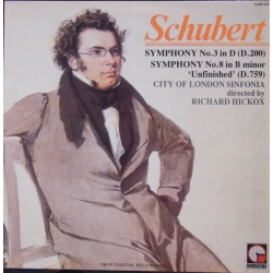 Schubert: Symfoni nr. 3 & 8. Richard Hickox, London Sinfonia. 1 LP. IMP