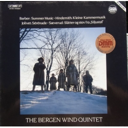 Barber: Summer Music & Hindemith: Kleine Kammermusik. Bergen Wind Quintet. 1 LP. BIS LP 291 New copy
