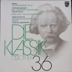 Grieg: Peer Gynt & Klaverkoncert. Steven Bishop, Colin Davis. 1 LP. Philips.