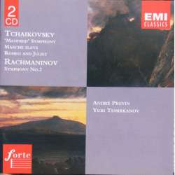 Tchaikovsky: Manfred symfoni & March slave, Andre Previn, London Symphony Orchestra. 2 CD. EMI