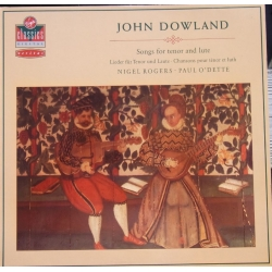 Dowland: Sange for tenor og lute. Nigel Rogers, Paul O'dette. 1 LP. Virgin. Nyt eksemplar