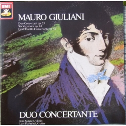 Giuliani: Duo Concertante for violin and guitar. Kim Sjøgren and Lars Hannibal. 1 CD. EMI