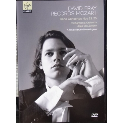 David Fray Records Mozart. Piano Concertos nos. 22 & 25. 1 DVD Virgin.