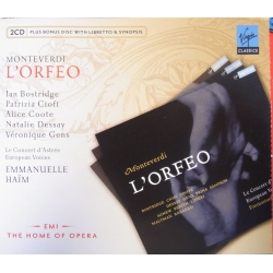Monteverdi: L'Orfeo. Bostridge, Croft, Dessay. Haim. 2 CD. Virgin.