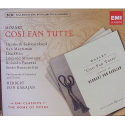 Mozart: Cosi fan tutte. Schwarzkopf, Panerai. Karajan. 3 CD. EMI. The home of opera