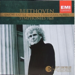 Beethoven: Symfoni nr. 7 & 8. Simon Rattle, Berliner PO. 1 CD. EMI