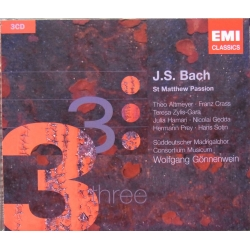 Bach: St. Matthew Passion. Wolfgang Gönnenwein, Theo Altmeyer, Franz Crass, Hermann Prey. 3 CD. EMI