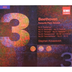Beethoven: Favourite Piano Sonatas. Stephen Kovacevich. 3 CD. EMI
