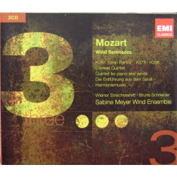 Mozart: Wind Serenades. Sabine Meyer Wind Ensemble. 3 CD. EMI