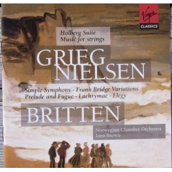 Grieg: Holberg Suite & Nielsen: Musik for strygere. Norwegian Chamber Orchestra. Iona Brown. 2 CD. Virgin