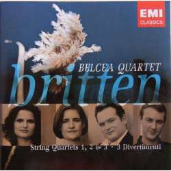 Britten: String Quartet nos. 1-3. + Divertimenti. Belcea Quartet. 2 cd. EMI