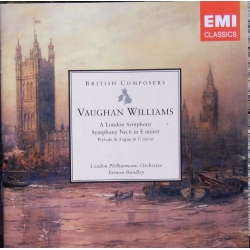 Vaughan-Williams: Symfoni nr. 2 & 6. Vernon Handley, LPO. 2 cd. EMI