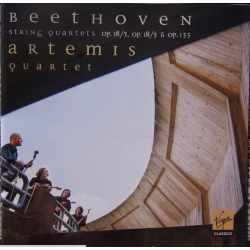 Beethoven: Strygekvartet Op. 18/3 + 5. & Op. 135. Artemis Quartet. 1 CD. Virgin