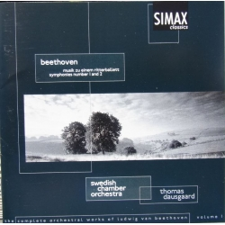 Beethoven: Symfoni nr. 1 & 2. Thomas Dausgaard, Swedish CO. 1 cd. Simax.