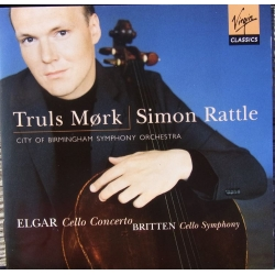 Elgar: Cellokoncert. & Britten: Cellosymfoni. Truels Mørk. Simon Rattle. 1 CD. Virgin
