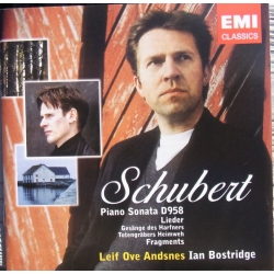 Schubert: Piano Sonata D 958. + Lieder. Leif Ove Andsnes, Ian Bostridge. 1 CD. EMI.