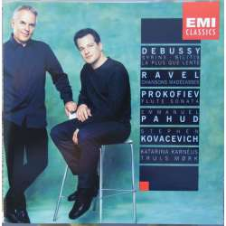Debussy, Ravel & Prokofiev: Sonatas for flute. Emmanuel Pahud, Stephen Kovacevich, Truels Mørk. 1 CD. EMI. New Copy