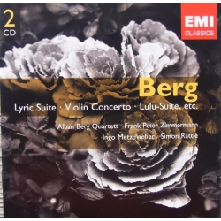 Berg: Lyrisk suite, Violinkoncert. Lulu suite. Alban Berg Quartet. Simon Rattle. 2 CD. EMI. Gemini