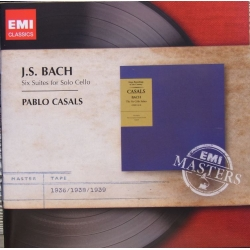 Bach: 6 Suiter for solo cello. Pablo Casals. 2 cd. EMI Masters.