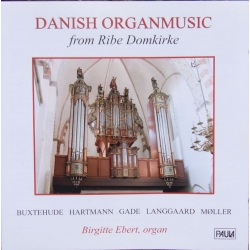 Danish organ music from Ribe Church. Birgitte Ebert. 1 CD. Paula