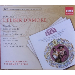 Donizetti: L'Elisir D'amour. Freni, Gedda. Pradelli. 2 cd. EMI. The Home of opera