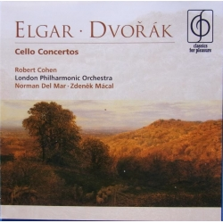Elgar & Dvorak: Cello Concertos. Robert Cohen, LPO. del Mar. 1 cd. EMI